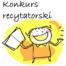 Rysunek dziecka z książeczką oraz napis Konkurs recytatorski