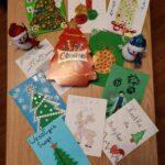 Prace uczniów - kartka świąteczna dla medyka