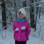 Zima - dziecko na spacerze