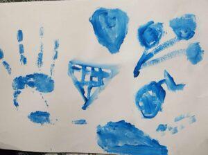 Niebieski rysunek