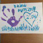 plakat Dzień Autyzmu - Dłoń i serce