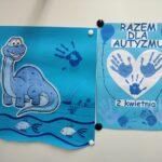 Niebieskie Plakaty - Razem dla Autyzmu i dinozaur, rybki i niebieska dłoń