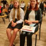 Uczennica z rodzicem