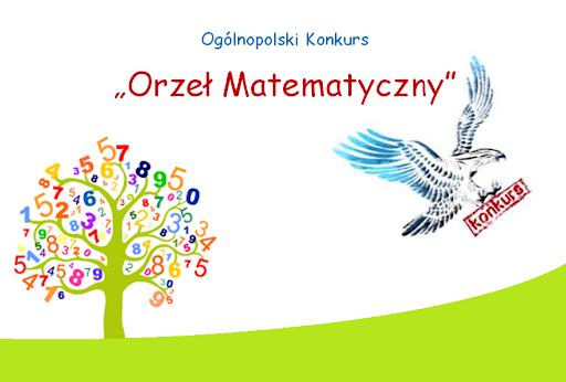 Plakat konkursu -Orzeł matematyczny