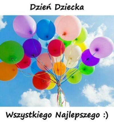 dzień dziecka , balony różnokolorowe